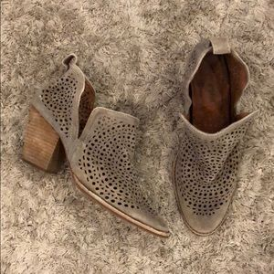 Jeffrey Campbell Rosalee Suede Perforated Booties